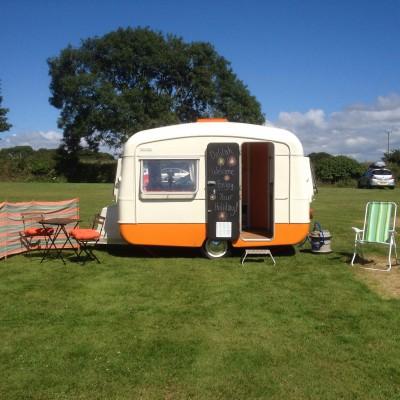 Kernow Campervan Hire vintage caravan