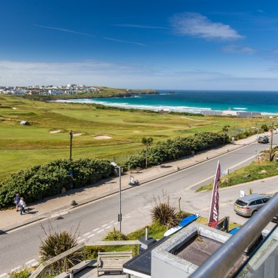 Sea view from the dog friendly Carnmarth Hotel in Newquay, Cornwall