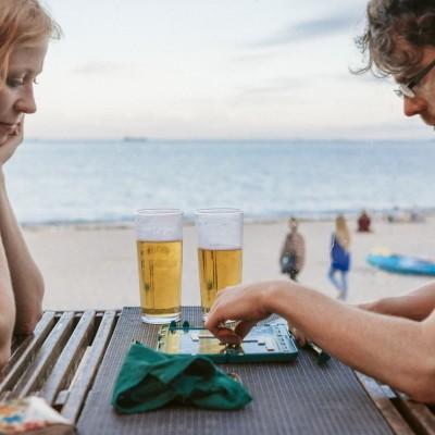Gylly Beach Cafe terrace
