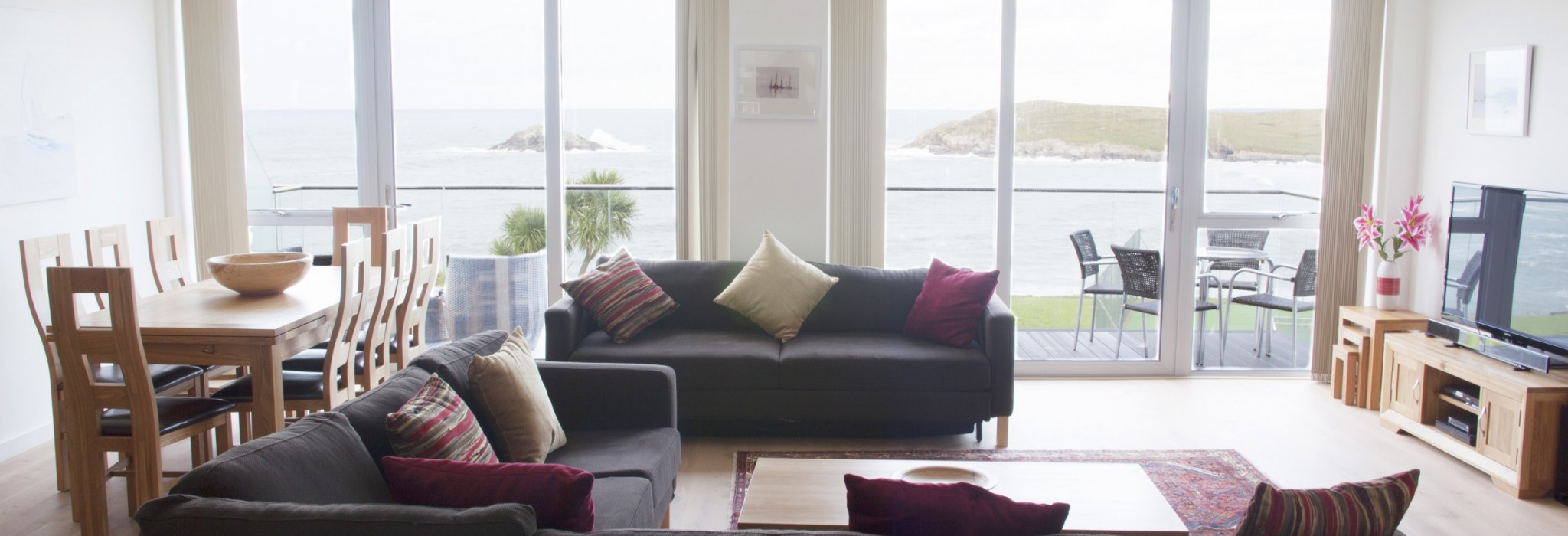 Living area - Crantock Bay Apartments