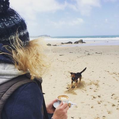 Lusty Glaze, a dog friendly beach in Conrwall