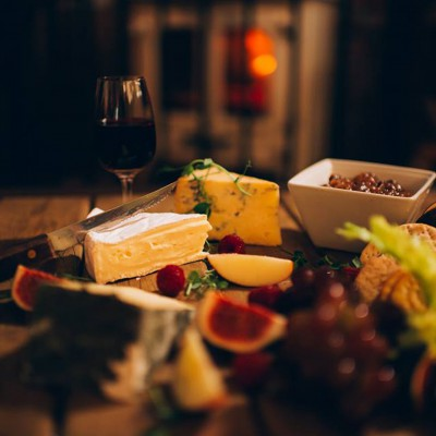 Lusty Glaze Beach Restaurant cheese board