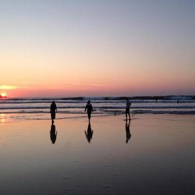 Lusty Glaze Beach sunset