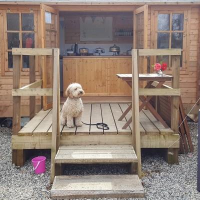 Miss V's tea hut in Cornwall