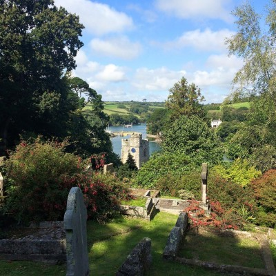 View from St Just in Roseland Church