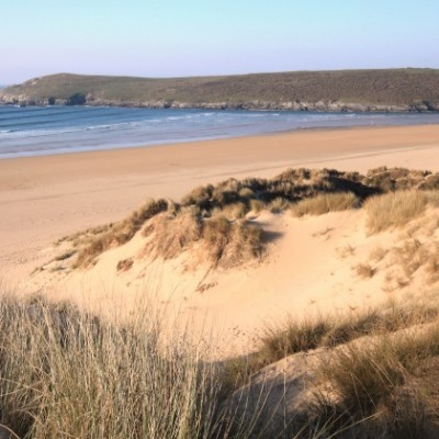 Crantock Beach sand dunes