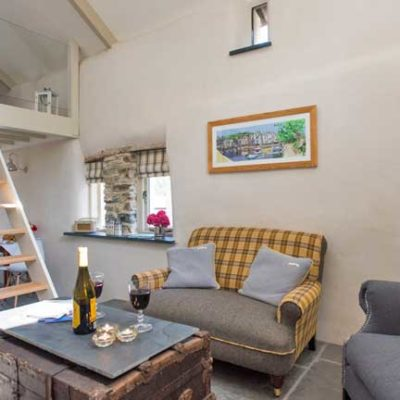 Little Waddons living room - Boutique Retreats, Devon