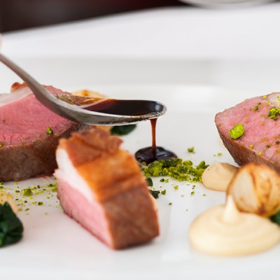 Fine dining at Summer Lodge Hotel in Dorset