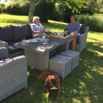 Outside dining area at one of Cornish Traditional Cottages' dog friendly properties