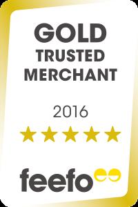 Gold Trusted Merchant badge - Feefo