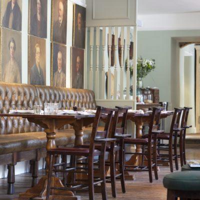Dining area at The Wheatsheaf Inn, Gloucestershire